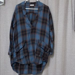 Free people oversized plaid pullover